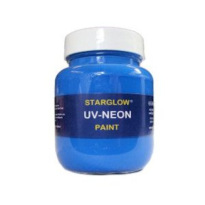 Starglow UV Neon Fluorescent Blue Paint