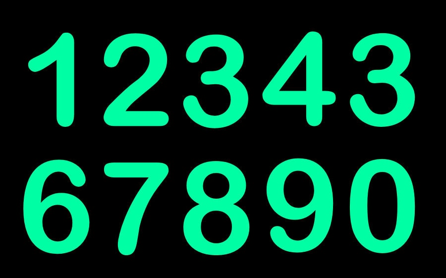 Starglow Luminous Glow Numbers