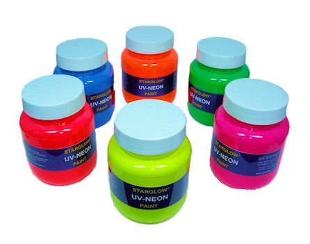 Starglow UV Neon Fluorescent Paint Range