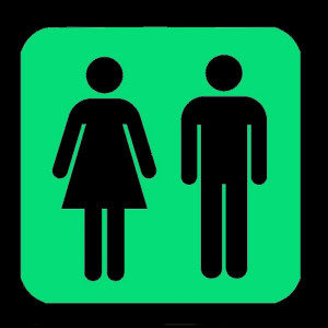 STARGLOW Room Finders Unisex Toilet Sign