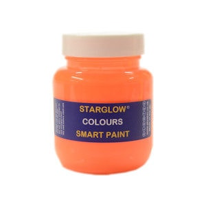 Orange Colours Glow Paint