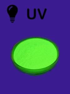 Triple glow yellow powder - uv