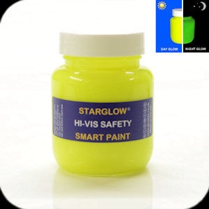 Hi-vis glowing safety paint